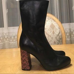 ZARA Genuine Leather Black Boots